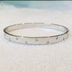 Swarovski Silver-tone Bracelet Bangle with Crystal